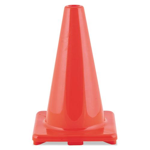 "Champion Sports Hi-Visibility Vinyl Cones, 18"" Tall, Orange"