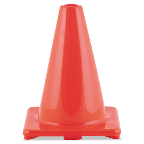 Hi-Visibility Vinyl Cones, 6 Tall, Orange
