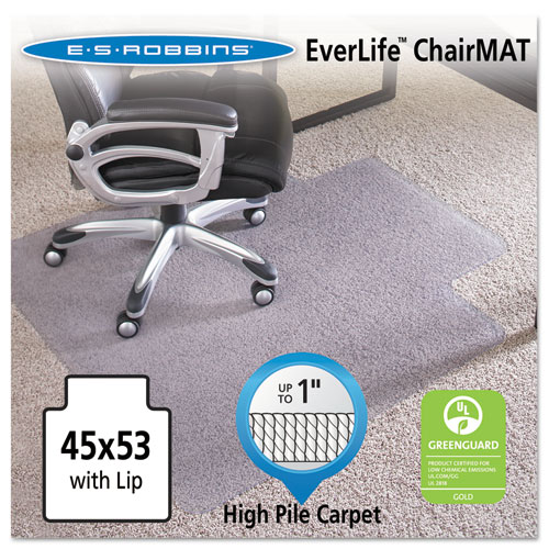 ES Robbins® 45x53 Lip Chair Mat, Performance Series AnchorBar for Carpet up to 1""