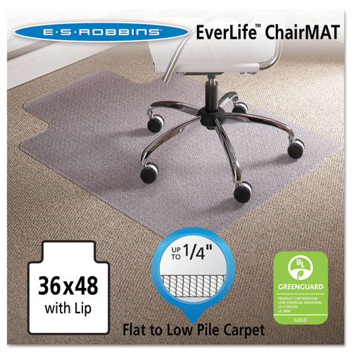 36 x 48 lip chair mat task series anchorbar for carpet up to 1 4