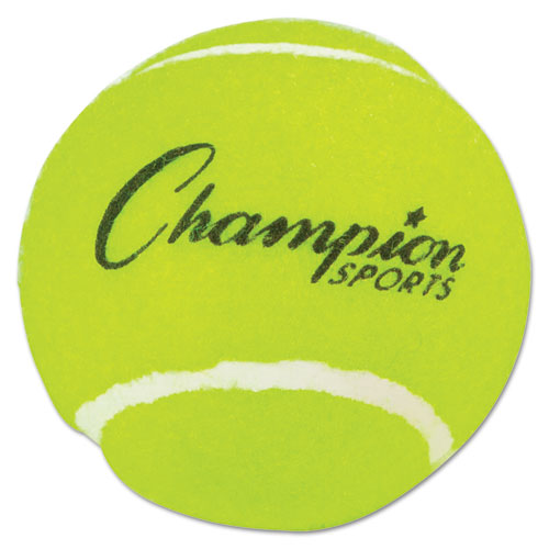 Tennis Balls, 2 1/2 Diameter, Rubber, Yellow, 3/Pack