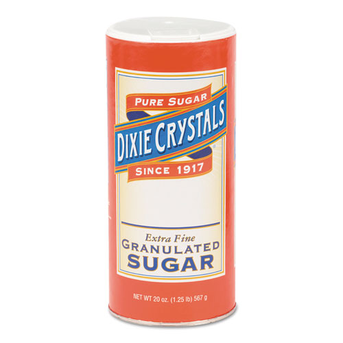 Diamond Crystal Granulated Sugar, 20 oz Canister, 24/Carton