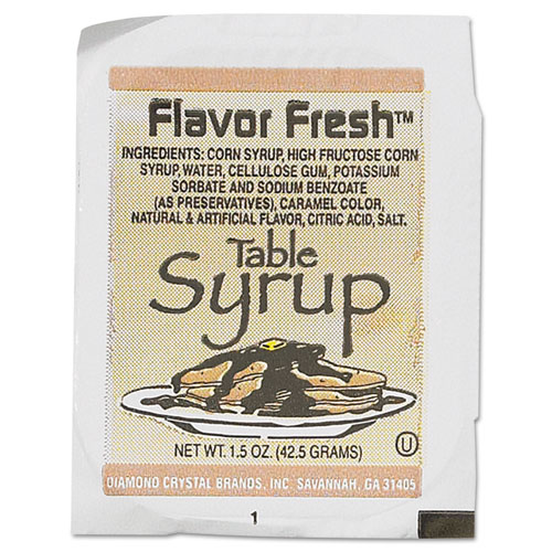 Flavor Fresh Syrup, 1.5 oz Cups, 100/Box 75901