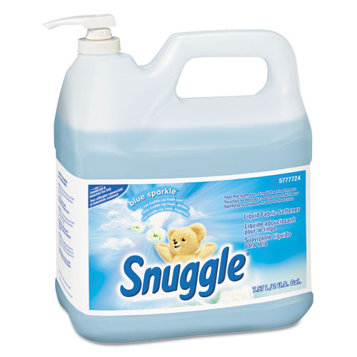 Snuggle® Liquid Fabric Softener, Blue Sparkle, Floral Scent, 2 gal Bottle, 2/Carton