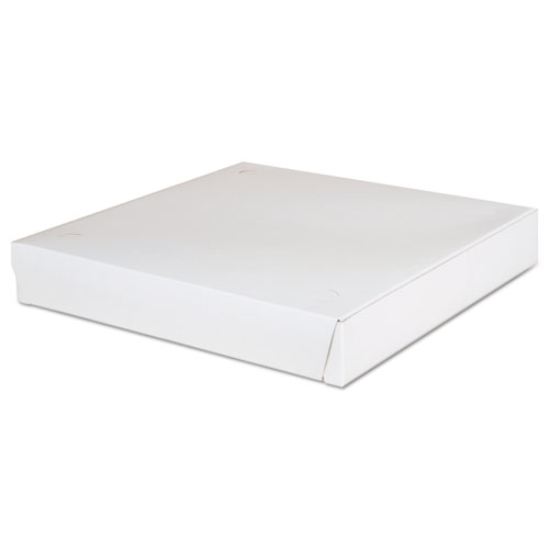 Lock-Corner Pizza Boxes, 12 x 12 x 1 7/8, White, 100/Carton