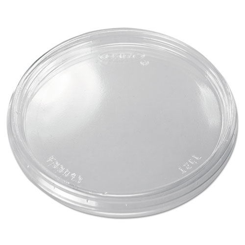 Non-Vented Cup Lids for 10, 12, 14 oz Foam Cups, Plastic, Clear, 1000/Carton 12CLR
