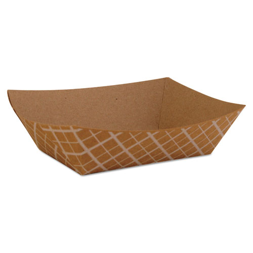 SCT® Paper Food Baskets, Brown/White Check, 1/2 lb Capacity, 1000/Carton SCH0509