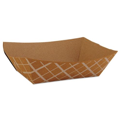 SCT® Paper Food Baskets, Brown/White Check, 1 lb Capacity, 1000/Carton SCH0513