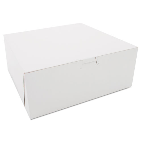 SCT® Bakery Boxes, 10 x 10 x 4, White, 100/Carton