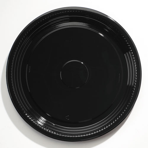 Caterline Casuals Thermoformed Platters, PET, Black, 18 Diameter