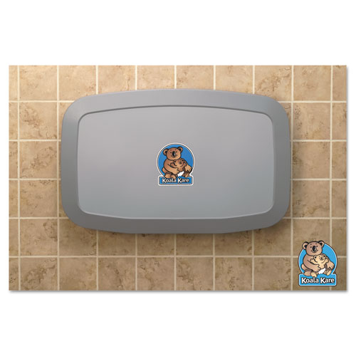 Horizontal Baby Changing Station, 35 x 22, Gray