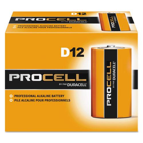 Duracell® Procell Alkaline Batteries, D, 12/Box