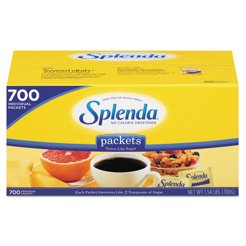 No Calorie Sweetener Packets, 700/Box | by Plexsupply
