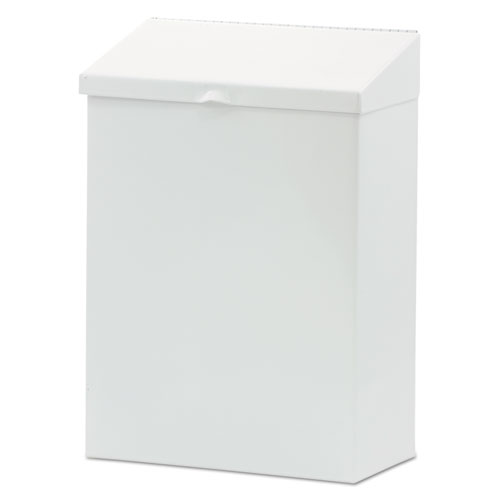 Feminine Hygiene Waste Receptacle, Metal, White