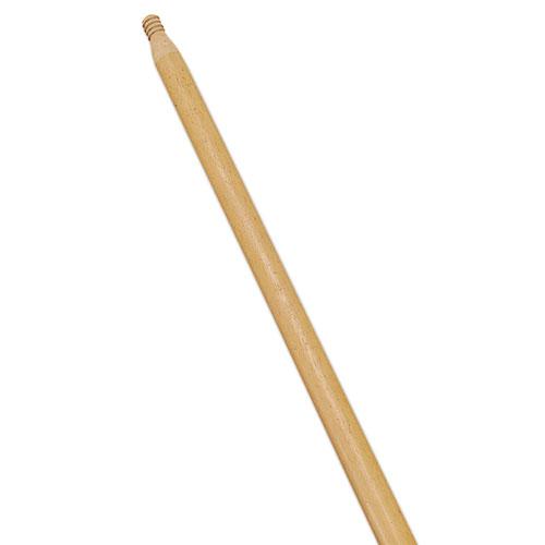 Standard Threaded-Tip Broom/Sweep Handle, 54, 1-5/16Dia, Wood, Dozen