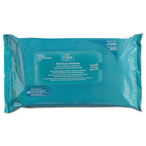 "Sani Professional® Hygea Adult Wash Cloths, 1-Ply, 8"" x 12"", White, 60 Pack, 9 Packs/Carton"