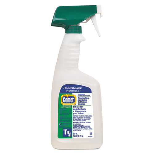 Comet Disinfecting Bathroom Cleaner - Liquid Solution - 0.25 gal (32 fl oz) - Citrus Scent - 8 / Bot PGC22569