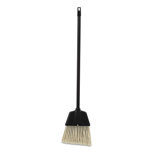 Lobby Dust Pan Broom, Plastic, Natural/Black, 38, 12/Carton