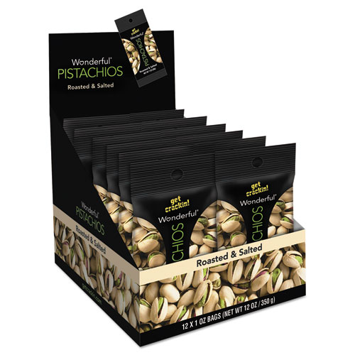 Wonderful Pistachios, Salt & Pepper, 1.25oz Pack, 12/Box