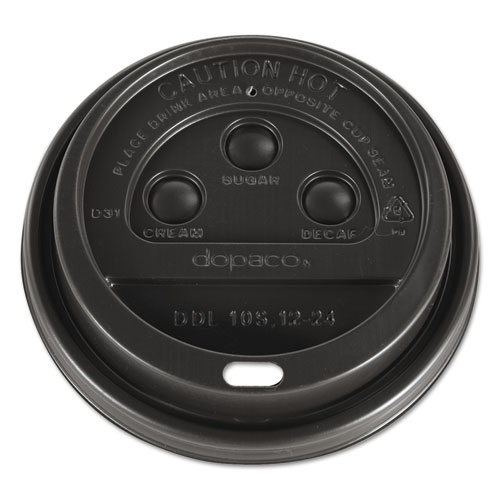 Dome Lids for Hot Paper Cups, For 12, 16, 20, 24oz, Brown, Plastic, 1000/CT DDL124BRD