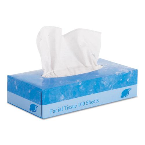 """GEN Facial Tissue, Flat Box, 2-Ply, 8"""" x 8.3"""", 100/Box, 30 Boxes/Carton"""