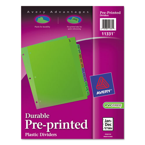 Preprinted Plastic Tab Dividers By Avery® AVE11331
