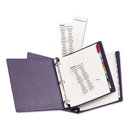 Ave11222 avery insertable big tab dividers zuma for Avery big tab inserts for dividers 8 tab template