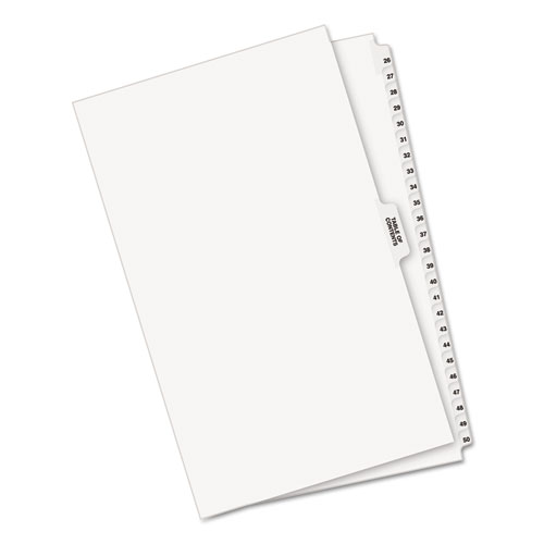 Avery Style Legal Exhibit Side Tab Divider Title 26 50 14 X 8 12