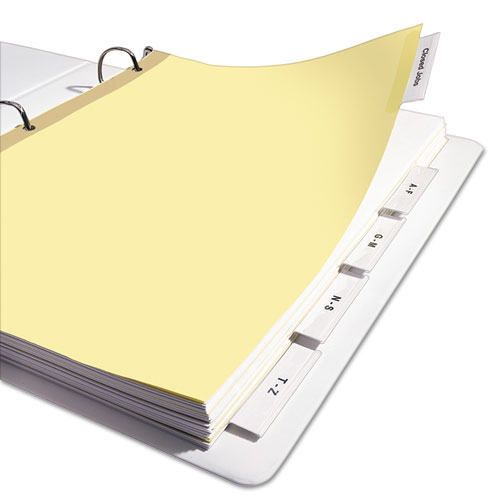 Insertable big tab dividers 5 tab letter for Avery big tab inserts for dividers 8 tab template