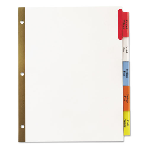 Ave11121 avery insertable big tab dividers zuma for 5 tab insertable dividers template