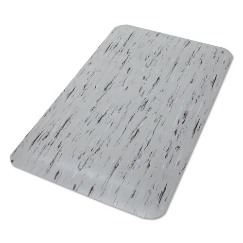 Cushion-Step Surface Mat, 24 x 36, Spiffy Vinyl, Gray