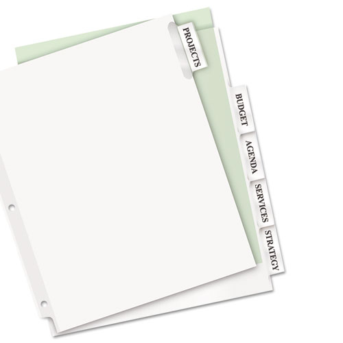 8 large tab insertable dividers template - insertable big tab dividers 5 tab 11 1 8 x 9 1 4