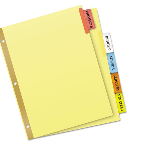 index divider templates - insertable big tab dividers 5 tab letter