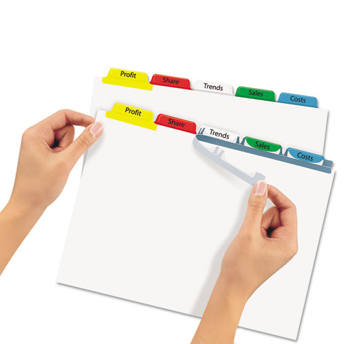 Ave11423 avery print apply clear label dividers w color for Avery easy apply 5 tab template