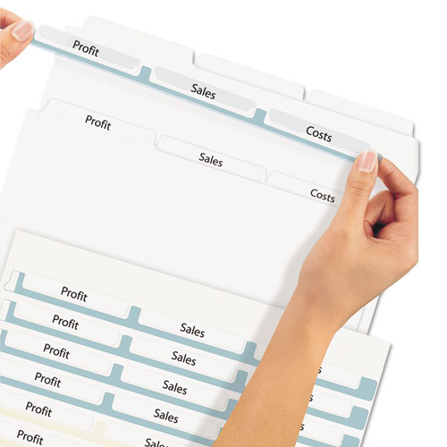 print apply clear label dividers wwhite tabs 3 tab letter 5 sets avery