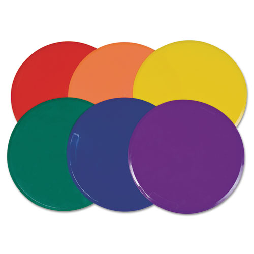Poly Spot Marker Set, 9 Disks, Assorted Colors, 6/Set