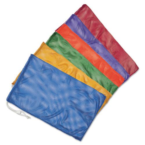 Heavy-Duty Mesh Bag, 12 x 18, Gold, Green, Orange, Purple, Royal Blue, Scarlet Red, 6/Set