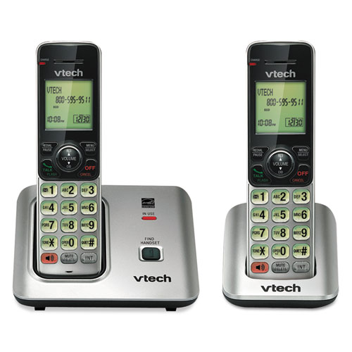 Cs6619-2 cordless phone system, base and 1 additional handset, sold as 1 each