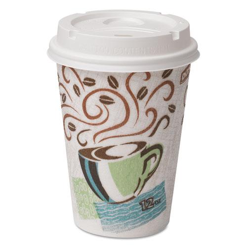 Paper Hot Cups & Lids Combo Bag, 12oz, 50/Pack 5342COMBO600
