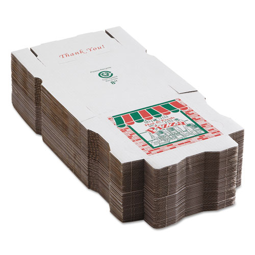 corrugated pizza boxes kraft white 8 x 8 50 carton nuleaf office solutions. Black Bedroom Furniture Sets. Home Design Ideas