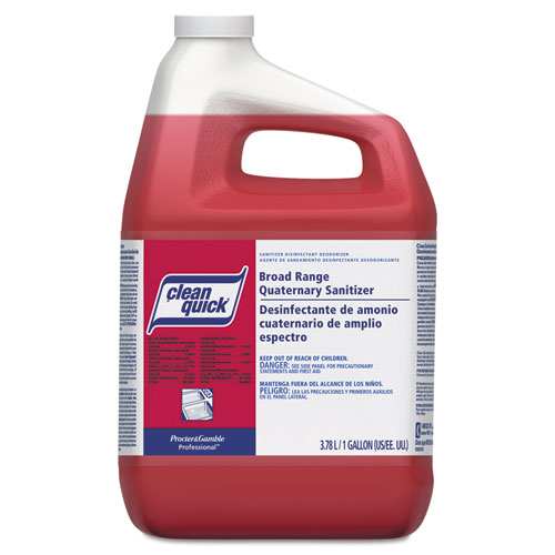 Broad Range Quaternary Sanitizer, Sweet Scent, 1 gal Bottle, 3/Carton