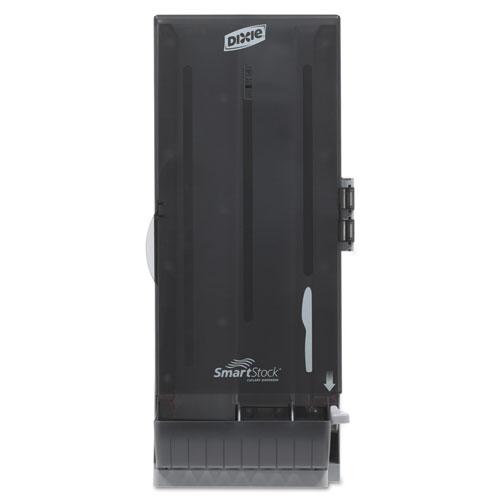 SmartStock Utensil Dispenser, Knife, 10 x 8.75 x 24.5, Translucent Gray