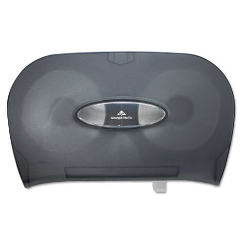 "Georgia Pacific® Two-Roll Bathroom Tissue Dispenser, 13.56"" x 5.75"" x 8.63"", Smoke"