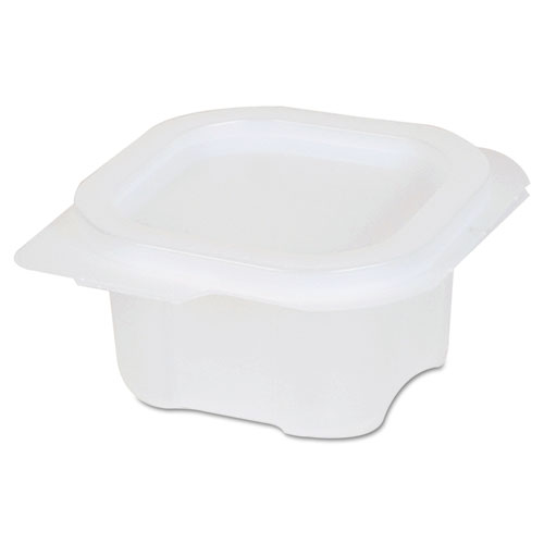 Liddles Portion Cups w/Attached Lids, 4 oz, Clear, Plastic, 900/Carton 87220