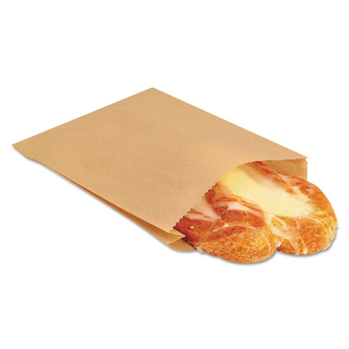 EcoCraft Grease-Resistant Sandwich Bags, 6.5 x 8, Natural, 2,000/Carton