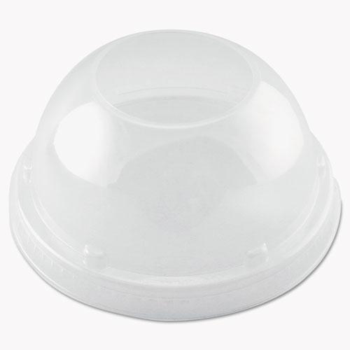 Cappuccino Dome Sipper Lids, 20 oz, Clear, 1000/Carton 20LCDH
