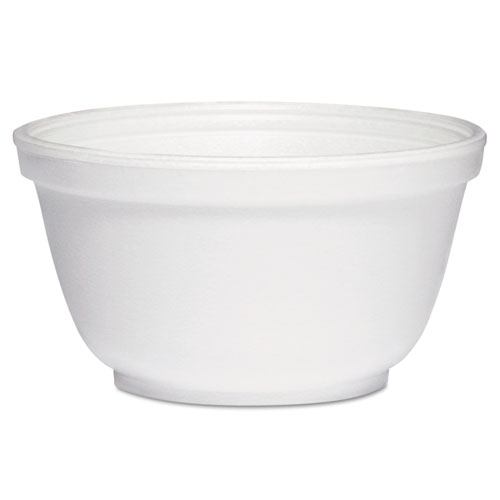 Foam Bowls, 10 Ounces, White, Round