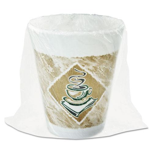 Cold/Hot Cup, Wrapped, White, 8 Oz, Pk 900 8X8GWRAP