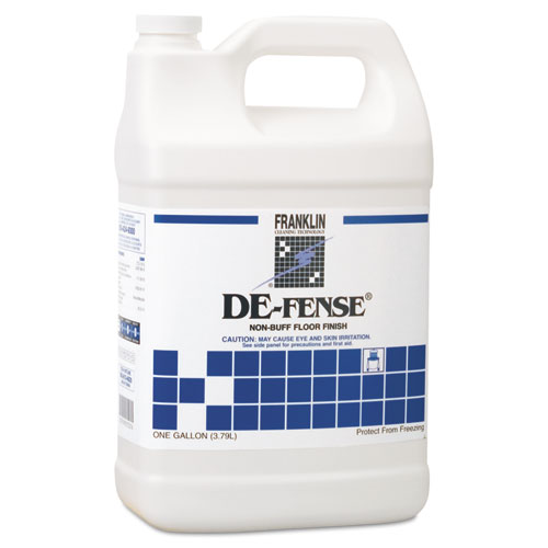 DE-FENSE Non-Buff Floor Finish, Liquid, 1 gal. Bottle