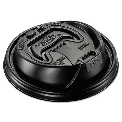 Optima Reclosable Lid, Fits 12-24 oz Foam Cups, Black, 1000/Carton